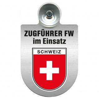 Einsatzschild Windschutzscheibe incl. Saugnapf - Zugführer Feuerwehr im Einsatz - 309749 - Region Schweiz