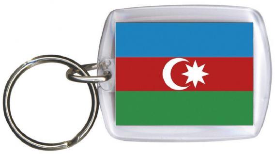 Schlüsselanhänger - ASERBAIDSCHAN - Gr. ca. 4x5cm - 81016 - WM Länder