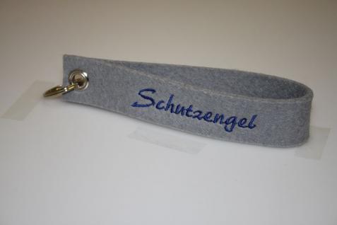 Filz-Schlüsselanhänger mit Stick - Schutzengel - Gr. ca. 17x3cm - 14416
