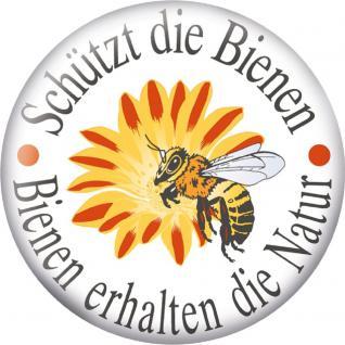Küchenmagnet - Schützt die Bienen... - Gr. ca. 5, 7 cm - 16097 - Magnet