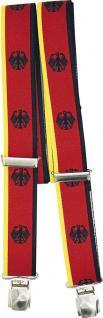 Hosenträger mit Print - Deutschland Adler - 06703 schwarz-rot-gelb