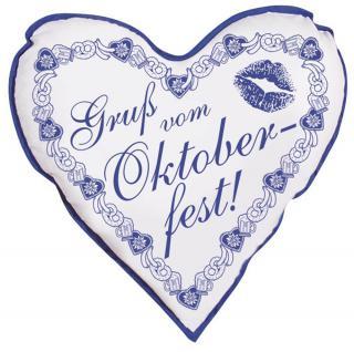 Deko- Kissen - Gruß vom Oktoberfest - 06949 - Deko Kissen