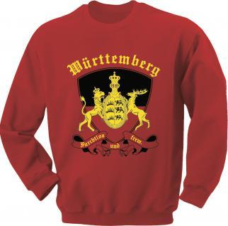 Sweatshirt mit Print - Württemberg Emblem - 09026 rot - L