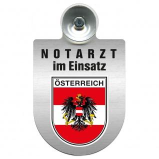 Einsatzschild Windschutzscheibe incl. Saugnapf - Notarzt im Einsatz - 309353 Region Österreich