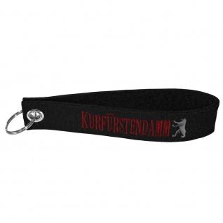 Filz-Schlüsselanhänger mit Stick Kurfürstendamm Gr. ca. 17x3cm 14299 schwarz