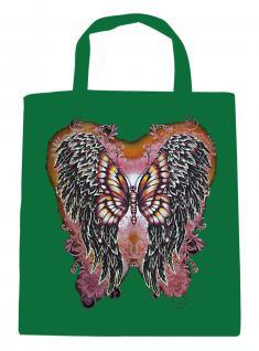 (U10807)Umweltfreundliche Baumwoll - Tasche , ca. 28 x 43 cm mit Aufdruck in 7 Farben grün
