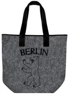 Filztasche mit EINSTICKUNG - BERLIN - 26013 - Shopper Umhängetasche Bag