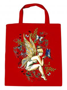 (U10972)Umweltfreundliche Baumwoll - Tasche , ca. 28 x 43 cm mit Aufdruck in 7 Farben rot