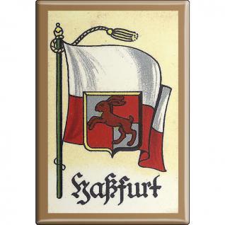 Küchenmagnet - Wappen Haßfurt - Gr. ca. 8 x 5, 5 cm - 37530 - Magnet Kühlschrankmagnet