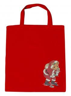 (08903/3-rot) Umweltfreundliche Baumwoll - Tasche , ca. 38 x 43 cm mit Aufdruck