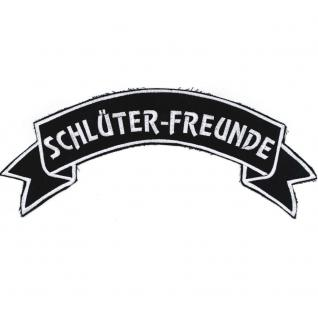 Rückenaufnäher AUFNÄHER - Schlüter-Freunde - 07307/2 - Gr. ca. 28 x 10, 5 cm - Patches Stick Applikation