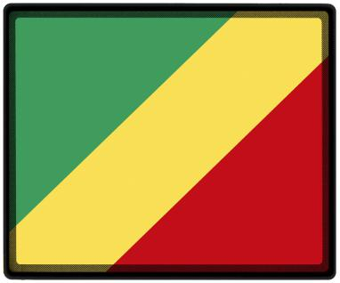Mousepad Mauspad mit Motiv - Kongo Fahne Fußball Fußballschuhe - 82085 - Gr. ca. 24 x 20 cm