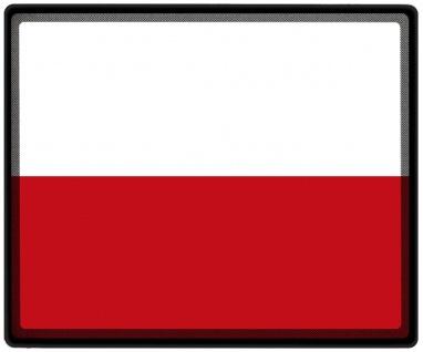 Mousepad Mauspad mit Motiv - Polen Fahne - 82132 - Gr. ca. 24 x 20 cm