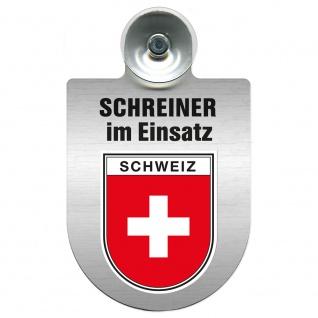 Einsatzschild Windschutzscheibe incl. Saugnapf - Schreiner im Einsatz - 309461 Region Schweiz