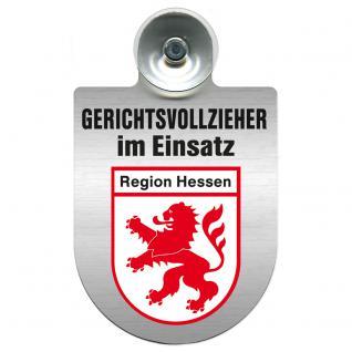 Einsatzschild Windschutzscheibe incl. Saugnapf - Gerichtsvollzieher im Einsatz - 309744-5 - Region Hessen