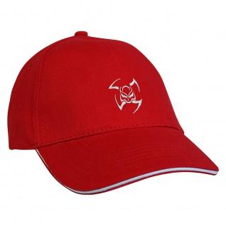 Baseballcap mit Einstickung Tribal 68106 rot