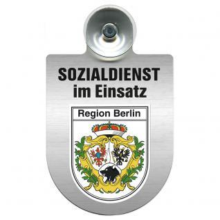 Einsatzschild Windschutzscheibe incl. Saugnapf - Sozialdienst im Einsatz - 309388-14 - Region Berlin