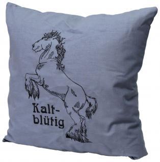 Kissen mit Print - Pferd Kaltblut - kaltblütig - 11342 - Dekor Kissen