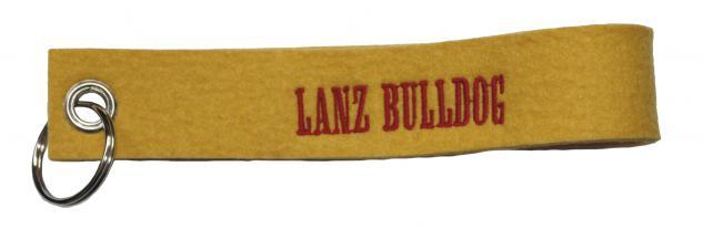 Filz-Schlüsselanhänger mit Stick Lanz Bulldog Gr. ca. 17x3cm 14166 gelb