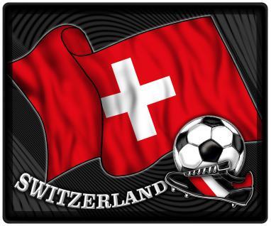 Mousepad Mauspad mit Motiv - Schweiz Fahne Fußball Fußballschuhe - 83144 - Gr. ca. 24 x 20 cm