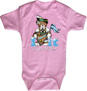 Babystrampler mit Print ? Oktoberfest - i love it- 12733 pink ? Gr. 6-12 Monate
