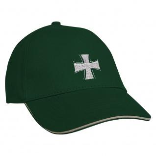Baseballcap mit Einstickung Eisernes Kreuz 68284 grün
