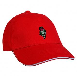 Baseballcap mit Einstickung Tribal Rose - 68341 rot