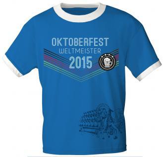 T-Shirt mit Print - Wies´n- Meister 2015 - 09052 blau - Gr. M