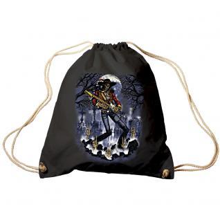 Trend-Bag Turnbeutel Sporttasche Rucksack mit Print- Ghost Guitar - TB65302 schwarz