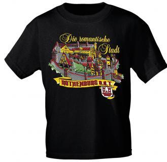 T-Shirt unisex mit Aufdruck - ROTHENBURG - 09429 - Gr. L