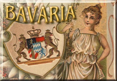 Kühlschrankmagnet - BAYERN BAVARIA - Nostalgiemotiv - Gr. ca. 8 x 5, 5 cm - 38743 - Küchenmagnet