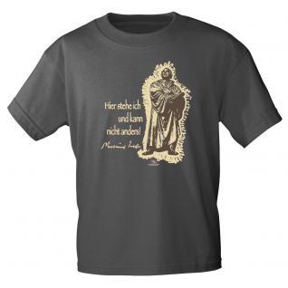 T-Shirt unisex mit Aufdruck in 6 Farben Luther Gr. S ?XXL 09705 M / grau