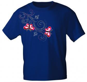(12853) T- Shirt mit Glitzersteinen Gr. S - XXL in 16 Farben M / Royal