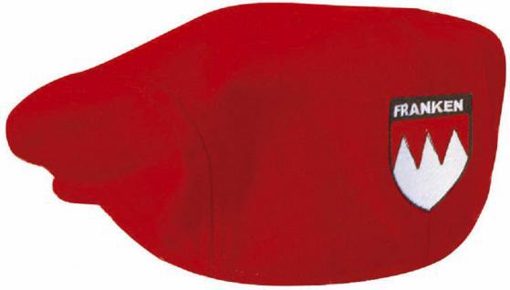 Gatsby - Cap mit Franken-Stick hinten - Wappen Franken - 53408 rot o. grau - Baumwollcap Baseballcap Schirmmütze Cappy