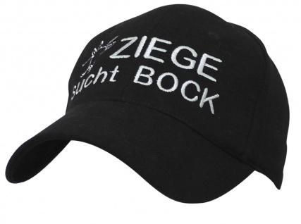 Baseballcap mit Einstickung - Ziege sucht Bock - 69698 schwarz
