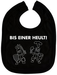 Baby-Lätzchen mit Druckmotiv - Bis einer heult - 07075 - schwarz