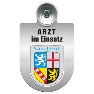 Einsatzschild Windschutzscheibe incl. Saugnapf - Arzt im Einsatz - 309352 Region Saarland