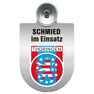 Einsatzschild Windschutzscheibe incl. Saugnapf - Schmied im Einsatz - 309462 - Region Thüringen