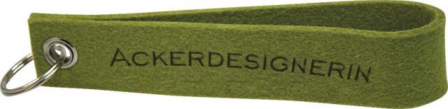 Filz-Schlüsselanhänger mit Stick - Ackerdesignerin - Gr. ca. 17x3cm - 141140