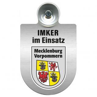 Einsatzschild Windschutzscheibe incl. Saugnapf - Imker im Einsatz - 309382-0-6 - Region Mecklenburg-Vorpommern