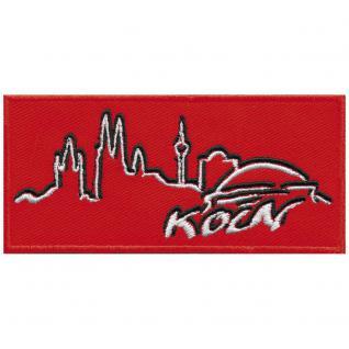 "Applikation Aufbügler Patches Stick Emblem Aufnäher Abzeichen "" KÖLN"" - NEU Gr. ca. 11cm x 5cm (00481) Stadtwappen Landeswappen Region"