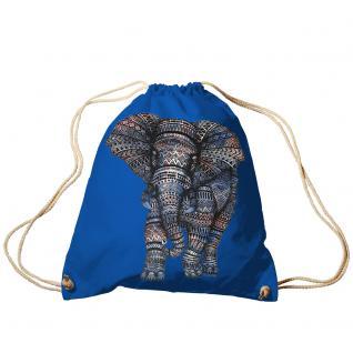 Trend-Bag Turnbeutel Sporttasche Rucksack mit Print - Elefant - TB12991
