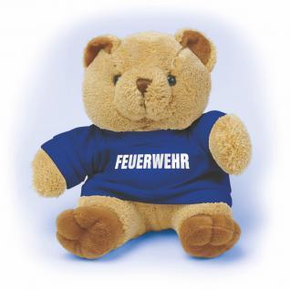 Plüsch - Teddybär mit Shirt - Feuerwehr - Größe ca 20 cm - 27016