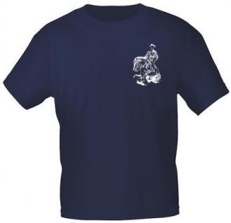 T-Shirt mit Print - Westernreiten - aus der ©Kollektion Bötzel - 09949 dunkelblau - Gr. XL