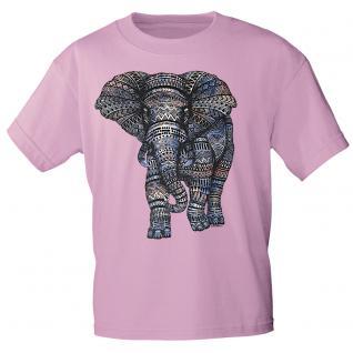 T-Shirt unisex mit Aufdruck - Elefant - 12992- versch. Farben zur Wahl - rosa / XXL