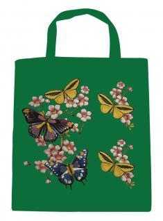 (06991-2)Umweltfreundliche Baumwoll - Tasche , ca. 28 x 43 cm mit Aufdruck in 7 Farben grün