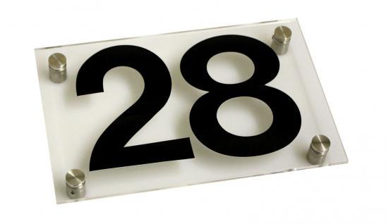 Acryl-Kunststoff-Hausnummernschild - 28 - 20x13cm