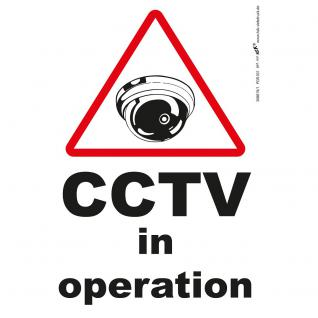 Hinweisschild - CCTV in operation - Gr. ca. 185 x 285 mm - 308819/1