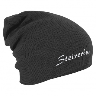 Longbeanie Slouch-Beanie Wintermütze Steirerbua 54881 grau