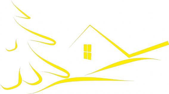 """Wandtattoo/ Dekorfolie mit Motiv """" stilisiertes Haus"""" Ø 90cm Länge max.100 cm, in 11 Farben WD0811 gelb"""